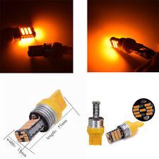 2X 12V Amber 7443 7440 4014 45 SMD LED Bulb Backup / Reverse / Turn Signal Light
