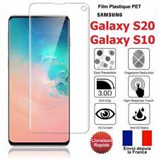 Film protection d'écran Samsung S20 S10 plastique incurvé protection total