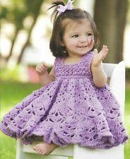 Frilly Dress Baby 4 Sizes Crochet Pattern Instructions