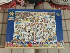 New listing Jumbo Jan Van Haasteren Ice Hockey 3000 Piece Jigsaw Puzzle Complete Excellent