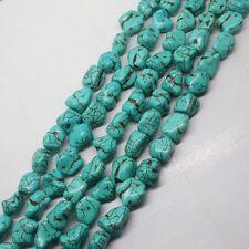 New 10x14mm Blue Turkey Turquoise Irregular Gemstone Loose Beads 15''