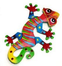 The Coolest Little Gecko Ever w/ Sunglasses Recycled Metal Wall Garden Art