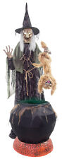 80' HALLOWEEN ANIMATED WITCH RABID CAT & CAULDRON NO FOG PROP 2017* PRE-ORDER*