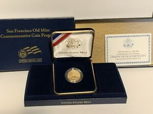 2006 San Francisco Old Mint $5 GOLD Coin BRILLIANT UNCIRCULATED with Box & COA