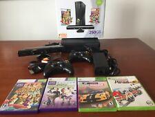New listing Microsoft Xbox 360 Kinect 250Gb Matte Black Console + 4 Games