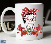 Betty Boop Birthday Christmas Gift White Mug 11oz 15oz Coffee Tea Cup