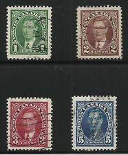 Canada Scott #231-33 & 235, Singles 1937 VF Used