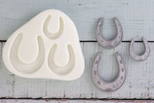 Silicone Mould,Graduated Horse shoes, Wedding, Horseshoe Riding, Equestrian M092