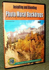 "20054 MODEL RAILROAD VIDEO DVD ""PHOTO MURAL BACKDROPS"" HOW-TO"