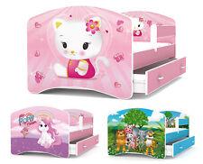 Jugendbett Kinderbett mit Schublade +  Matratze + Lattenrost 160x80 cm 10 Motive