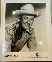 Monte Hale 8 x 10 Glossy Photo ~ Western Cowboy Movie Film Star Actor
