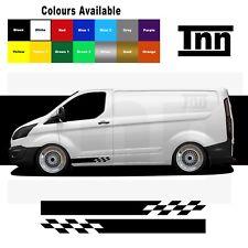 Side Stripe Stickers Vinyl Decals Graphics For Ford Transit Custom Van SWB LWB