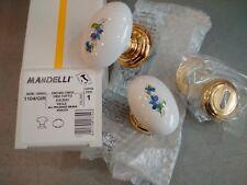 pomo accopp ottone MANDELLI art. 1104/GIR oro lucido bianco decor.