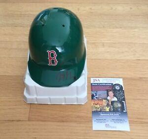 Jason Groome Boston Red Sox Autograph Signed Green St Pats Mini Helmet JSA COA