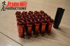 Muteki M12 X 1,5 abierto Estriado Rojo Sintonizador Rueda Lug Nuts Pack De 20 tecla z1272