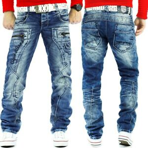 Cipo & Baxx Men's Jeans Dividing Seams Streetwear Regular Pants Leisure Clubwear