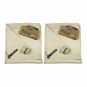 Gear Aid McNett Tactical Compact Microfiber Towel Sand Brown X-Large (2-Pack)