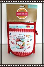 Double Oven Glove Retro Vintage Style Sweets French Bon Bons