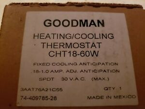 New nib Goodman heating cooling Thermostat Model CHT18-60w free shipping
