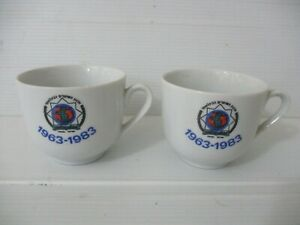 I.P.A. ( International police association) a pair of espresso cups, Israel, 1983