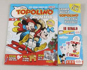 PRL) WALT DISNEY TOPOLINO JUNIOR 1 MICKEY 4 IN 1 CARD GAMES JEUX CARTES RATON