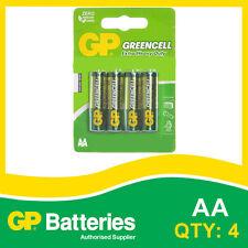 GP Greencell AA card of 4 Batteries [ALARM CLOCK, SMOKE ALARM + OTHERS]
