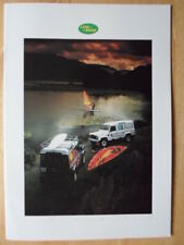 LAND ROVER COUNTY NINETY & ONE TEN orig 1986 UK Mkt Sales Brochure - 90 110