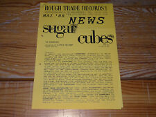 ROUGH TRADE NEWS 5/1988 / PROMO-BLÄTTER: SUGARCUBES, NEW ORDER, FELT, PIXIES