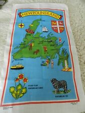 Vintage Tea Towel  Newfoundland Linen Made in Canada