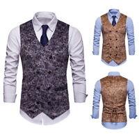 Mens Suit Vest Formal Business Wedding Party Tuxedo Waistcoat Jacket Coat Top HL