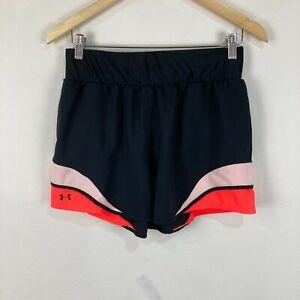 Under Armour Womens Shorts Size M Medium Black Elastic Waist