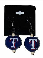 Texas Rangers Fashion Earrings Kukui Nut Dangle Earrings MLB