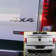 Genuine Gloss Black Dodge Ram 1500 3-D 4X4 Emblem Badge Ram Truck 2 emblems
