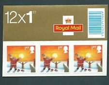 Lx27 Christmas 2004, 12 X 1st self adhesive. Barcode Booklet.