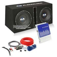 "Magnum MB210SP 1200W 10"" Loaded Sub Enclosure w/ Mono Amp + 8 Gauge Amp Kit"