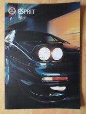 Lotus esprit V8-GT & V8-SE orig uk 2000 et euro Mkts sales brochure