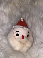 🎅🏻VINTAGE SANTA CLAUS CHRISTMAS TREE ORNAMENT FIGURE Cotton Beard CUTE