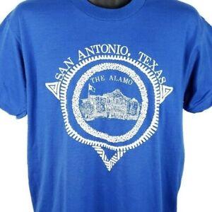 Alamo Mission T Shirt Vintage 80s San Antonio Texas 50/50 Made In USA Size Large