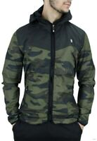 D-Rock, Men's Designer Windbreaker Jacket, Camouflage, Raincoat, Is Time Money