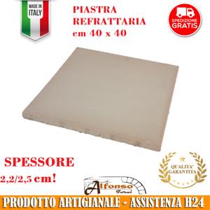 PIASTRA REFRATTARIA MATTONE 40 X 40 spessore 2,2cm PER FORNO ELETTRICO LEGNA GAS