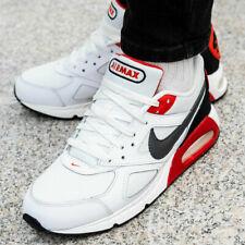 Nike Air Max Ivo Men's Trainers Shoes White/Dark Grey/Hubanero Red