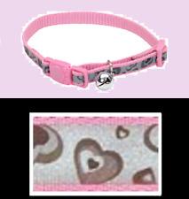 Coastal Pet Lazer Brite Cat Safety HEART Collar Bell Pink Reflective Silver NEW