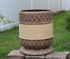 Corinthian Greek Decorative Trash Can Waste Basket Bathroom Accessory Resin