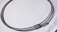 3 X 1MM BLACK MEMORY WIRE  CORD CHOKER NECKLACE  WITH CLASP