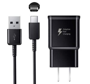 Fast Wall Charger +6FT Type-C CABLE for Original Samsung Galaxy A10E A10e Black
