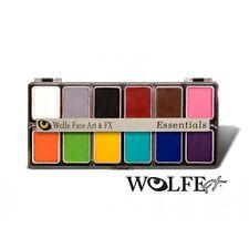 Wolfe FX Essential Palette-12 Colors, Top Quality Professional Basic Face Paint!