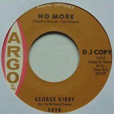 GEORGE KIRBY: No More / Feeling Good ARGO soul 45 hear it DJ