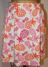 Sailor Sailor Just Madras Pink Orange White Tropical Pineapple Skirt Small S NWT