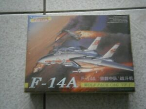 MAQUETTE AVION F-14A WOLF PACK CAG 'VF-1' DRAGON 4552 (1998) 1/144 - 1.144eme