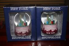 New York City Nyc Pink Princess Snow Globe Snowglobe set of 2 Nib